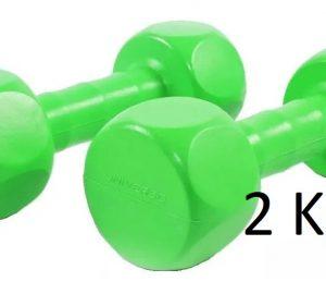 mancuerna pvc 2 kg